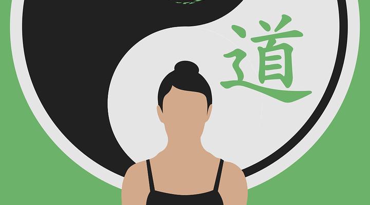 Cat Yin Yang Women Silhouette Yoga